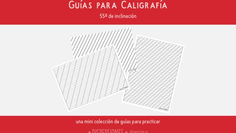 Guías para caligrafía (Inclinación de 55º)