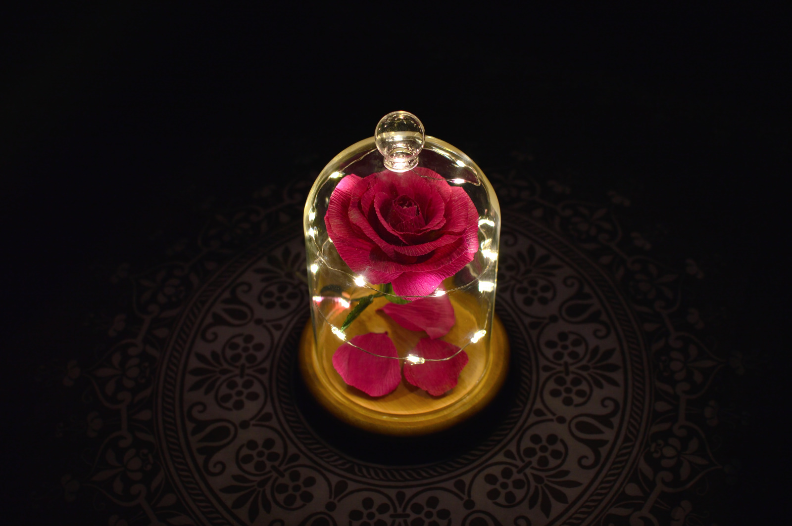 La rosa desde arriba